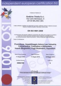 Certificazione ISO 9001 Grafiche Thiella