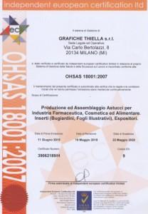 OHSAS 18001:2007 Certification Grafiche Thiella