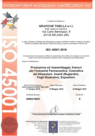 Certificazione ISO 4501 Grafiche Thiella
